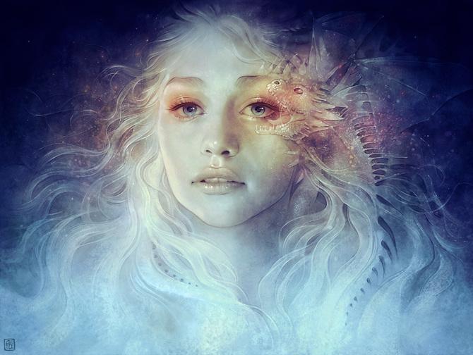 mother of dragons anna dittmann illustration