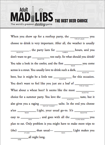 Dynamic image pertaining to printable mad libs for adults