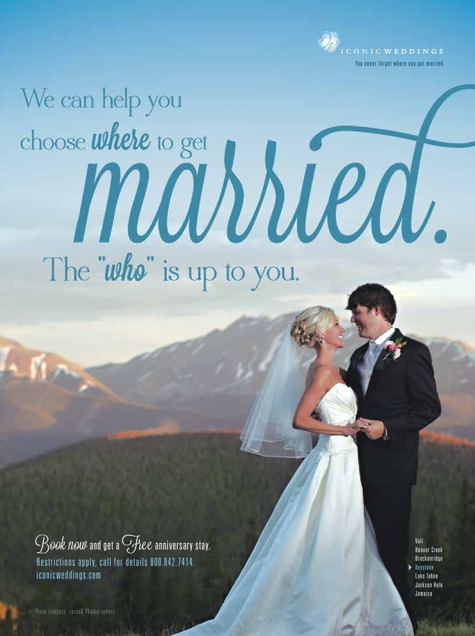 Vail Resorts  Iconic Weddings